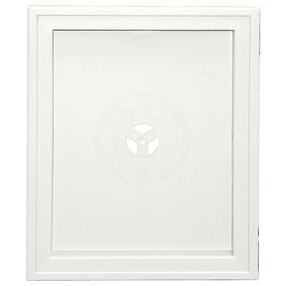 Builders Edge Large Recessed Mounting Block 123 White