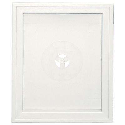 6.75 in. x 8.75 in. # 123 White Large Recessed Universal Mounting Block