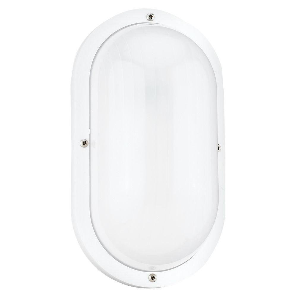 Bayside Small White Outdoor Bulkhead Light