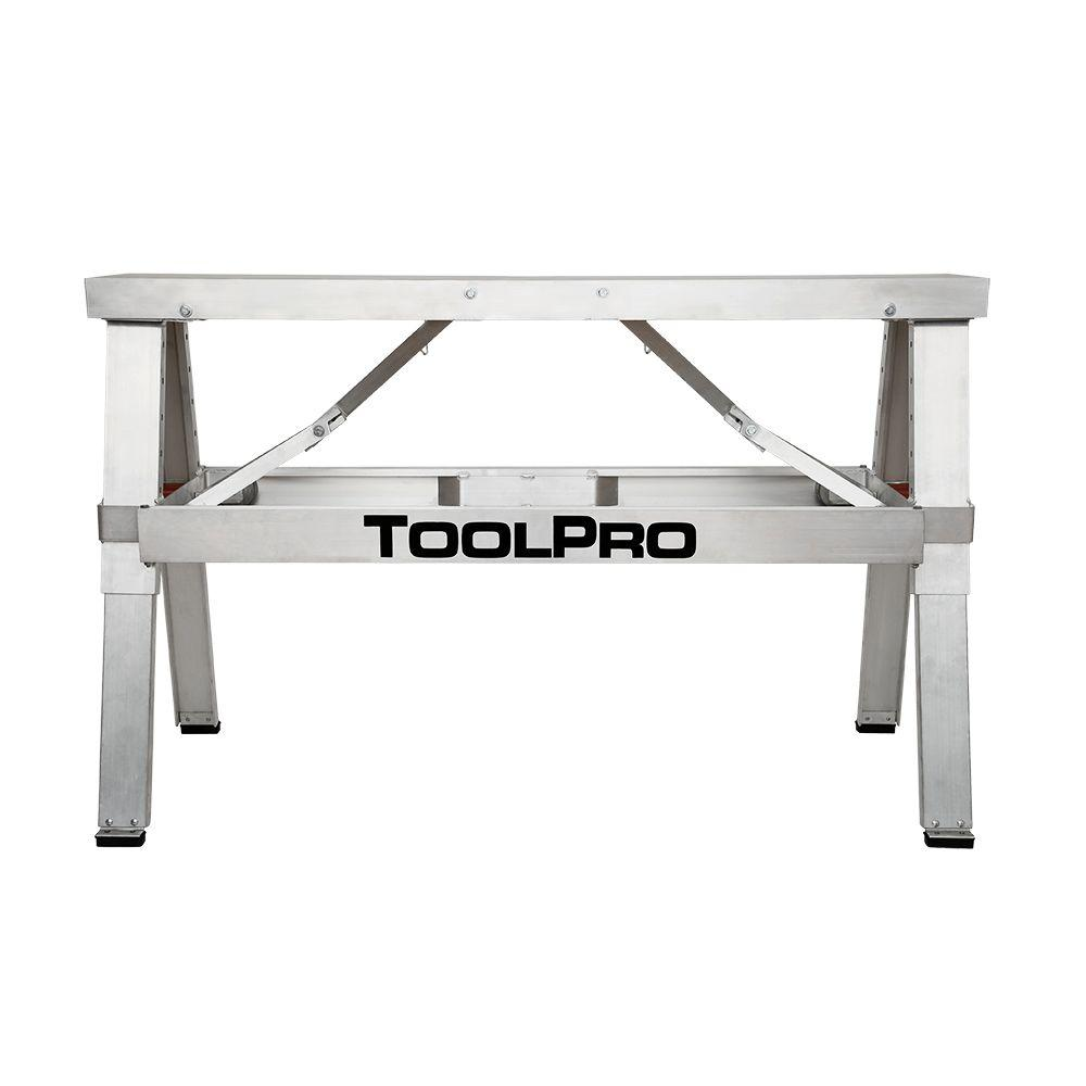 Toolpro 18 in to 30 in adjustable height aluminum collapsible step up bench tp88050 the home 30 bench
