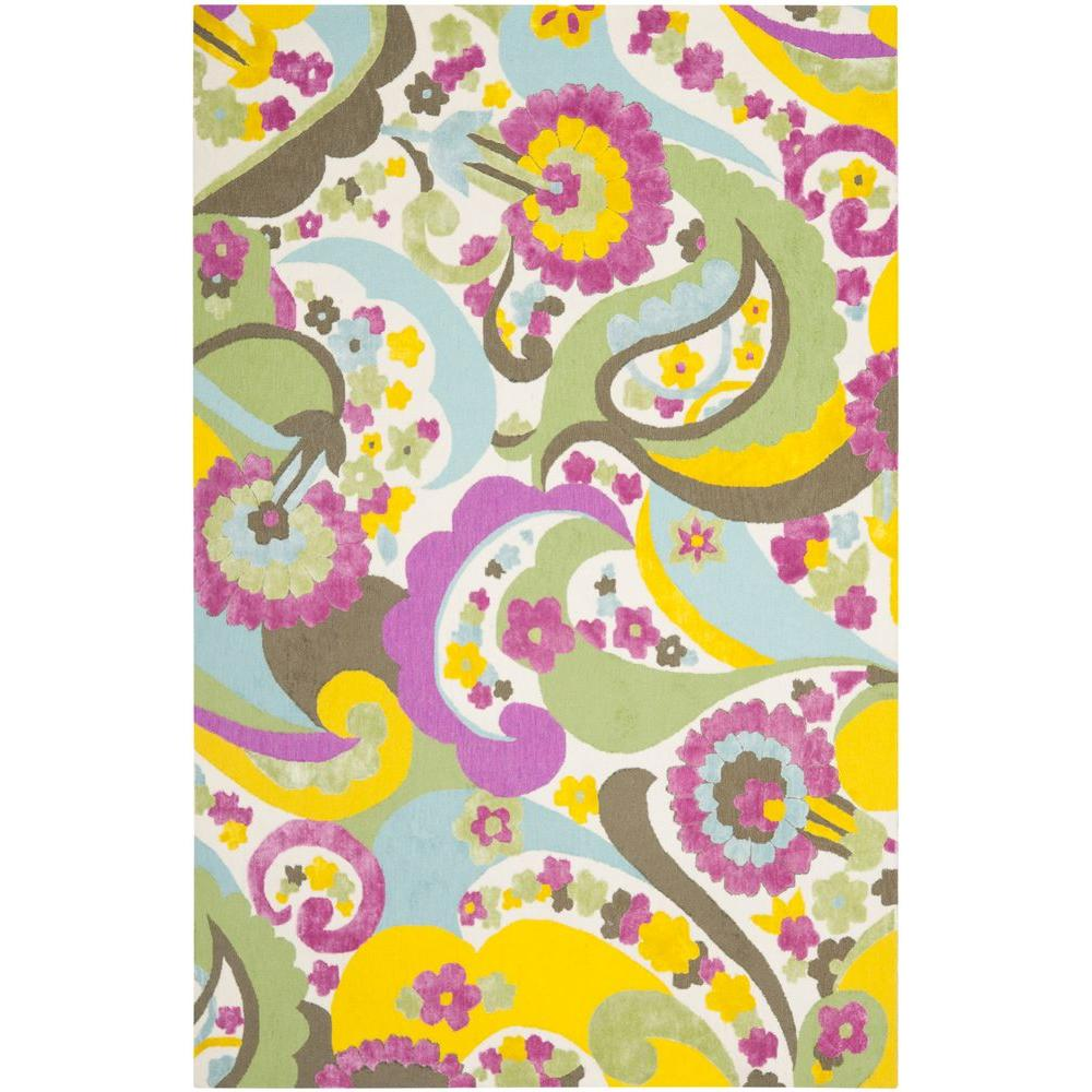 Safavieh Wilton Green/Fuchsia 4 ft. x 6 ft. Area Rug