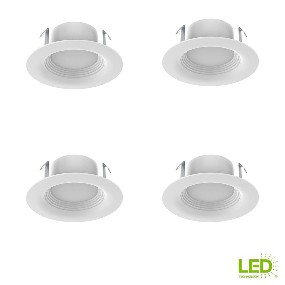 Ecosmart 4 In White Integrated Led Recessed Trim 3 Pack