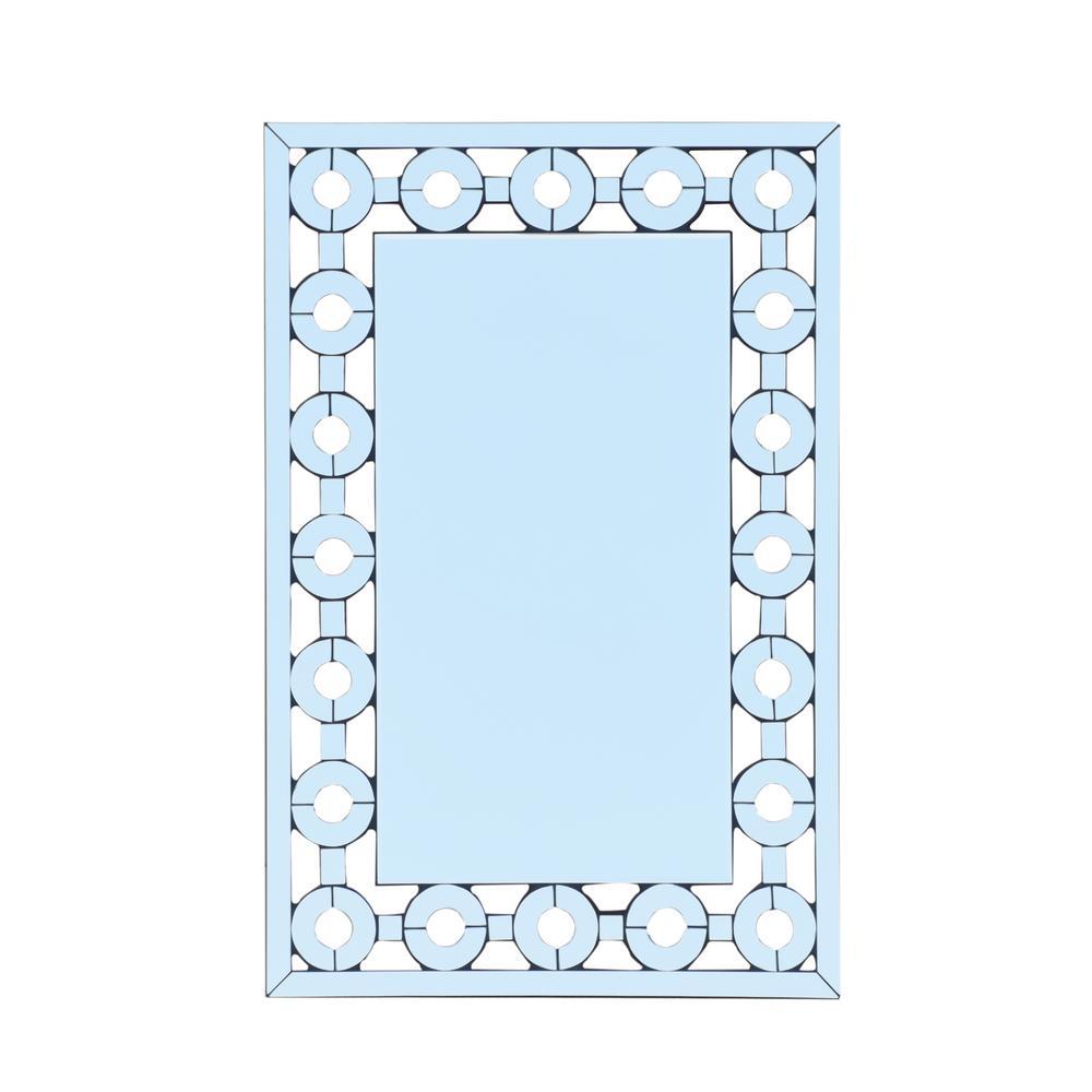 Ballivian Modern Glam Rectangular Wall Mirror