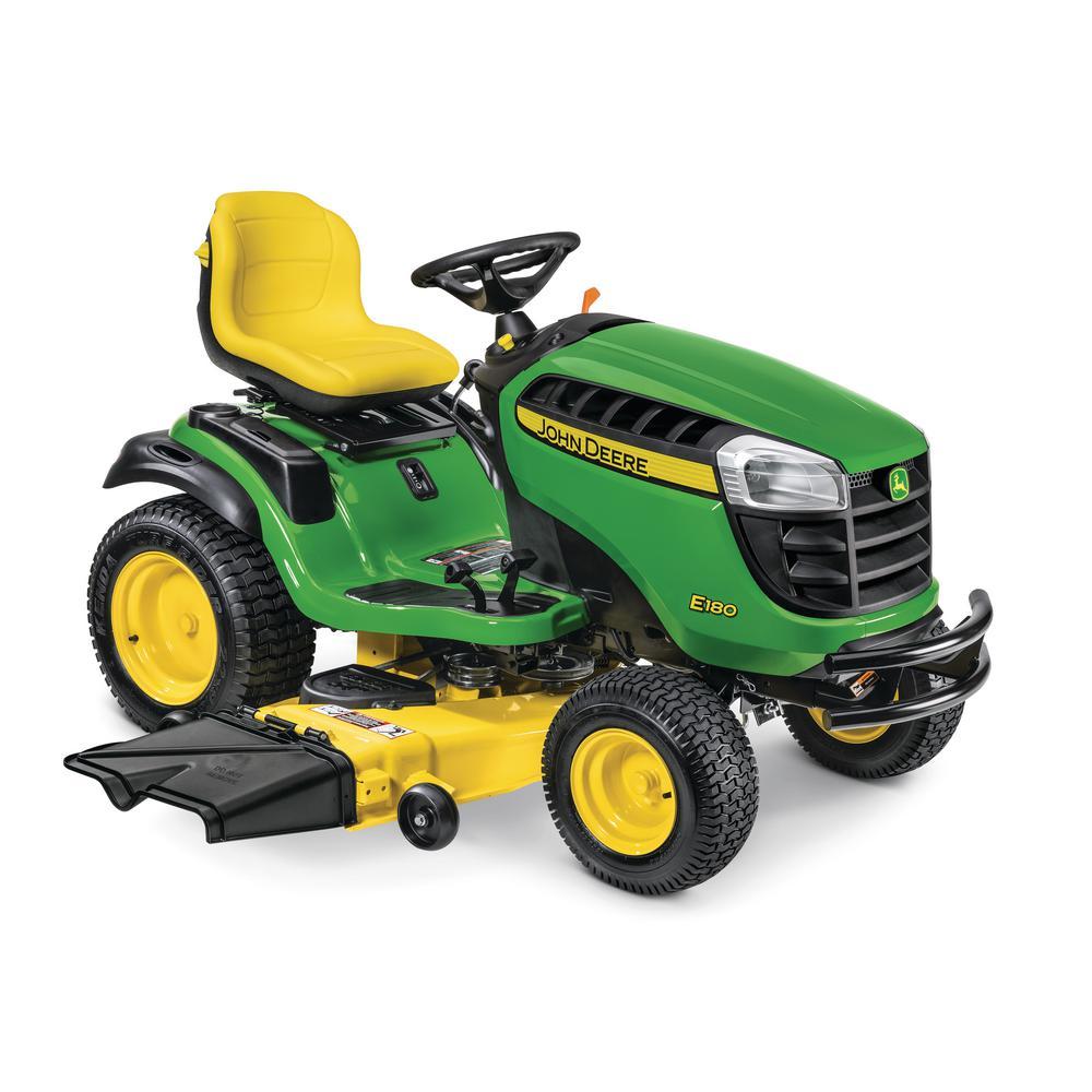 John Deere E180 54 inch 25 HP V-Twin ELS Gas Hydrostatic Lawn Tractor - California Compliant by John Deere