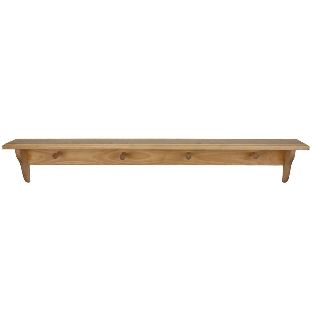 Phenomenal Details About Decor Shelf Pegs Display Floating Shelves Hanger Hook Wall Mount Unfinished Wood Download Free Architecture Designs Grimeyleaguecom