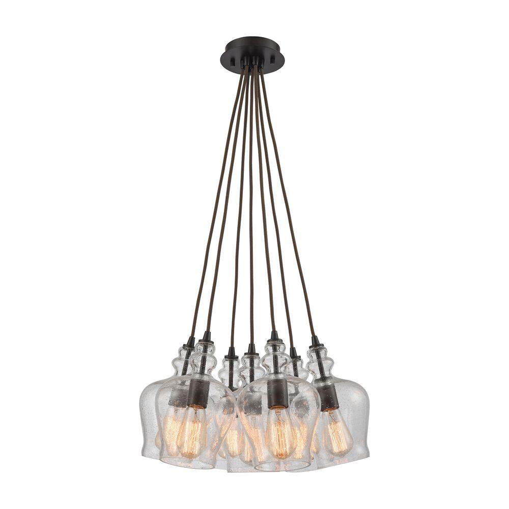 Menlow Park 7 Light Oil Rubbed Bronze Pendant