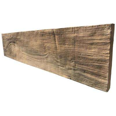 35.50 in. x 8 in. Koni Woodstone Honey Manufactured Stone Panel 8.40 sq. ft. Flats