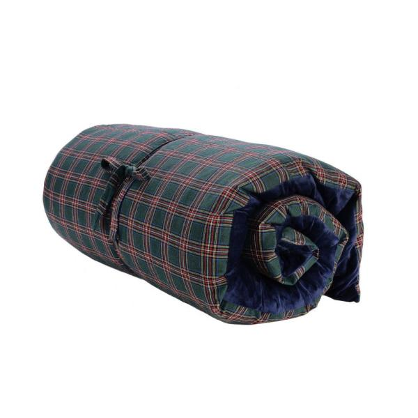 Multicolored Plaid Polyester 75 in. x 33 in. Throw Pillow