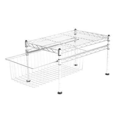 9.45 in. x 11.42 in. Chrome Pull-Out Cabinet Organizer Basket