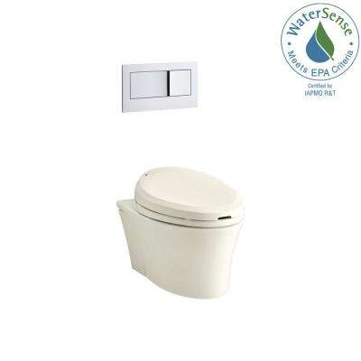 Veil Wall-Hung 1-piece 0.8/1.6 GPF Dual Flush Elongated Toilet in Biscuit