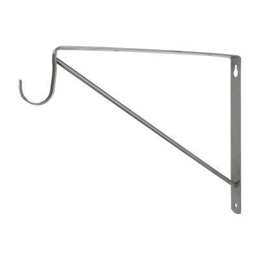 Satin Nickel Heavy Duty Shelf Bracket and Rod Support