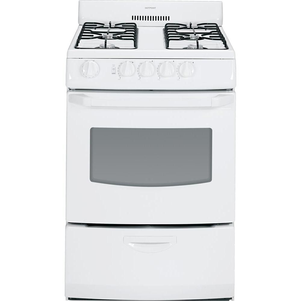 stove 24 inch. hotpoint 24 in. 3.0 cu. ft. gas range in white stove inch n