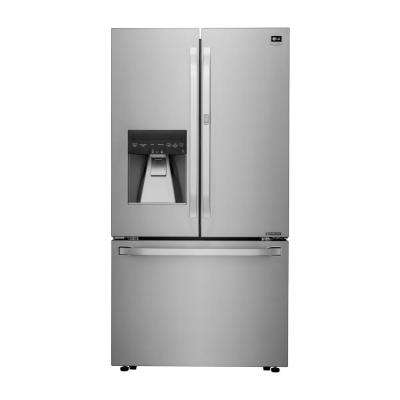 23.5 cu. ft. 3-Door French Door Refrigerator in Stainless Steel, Counter Depth