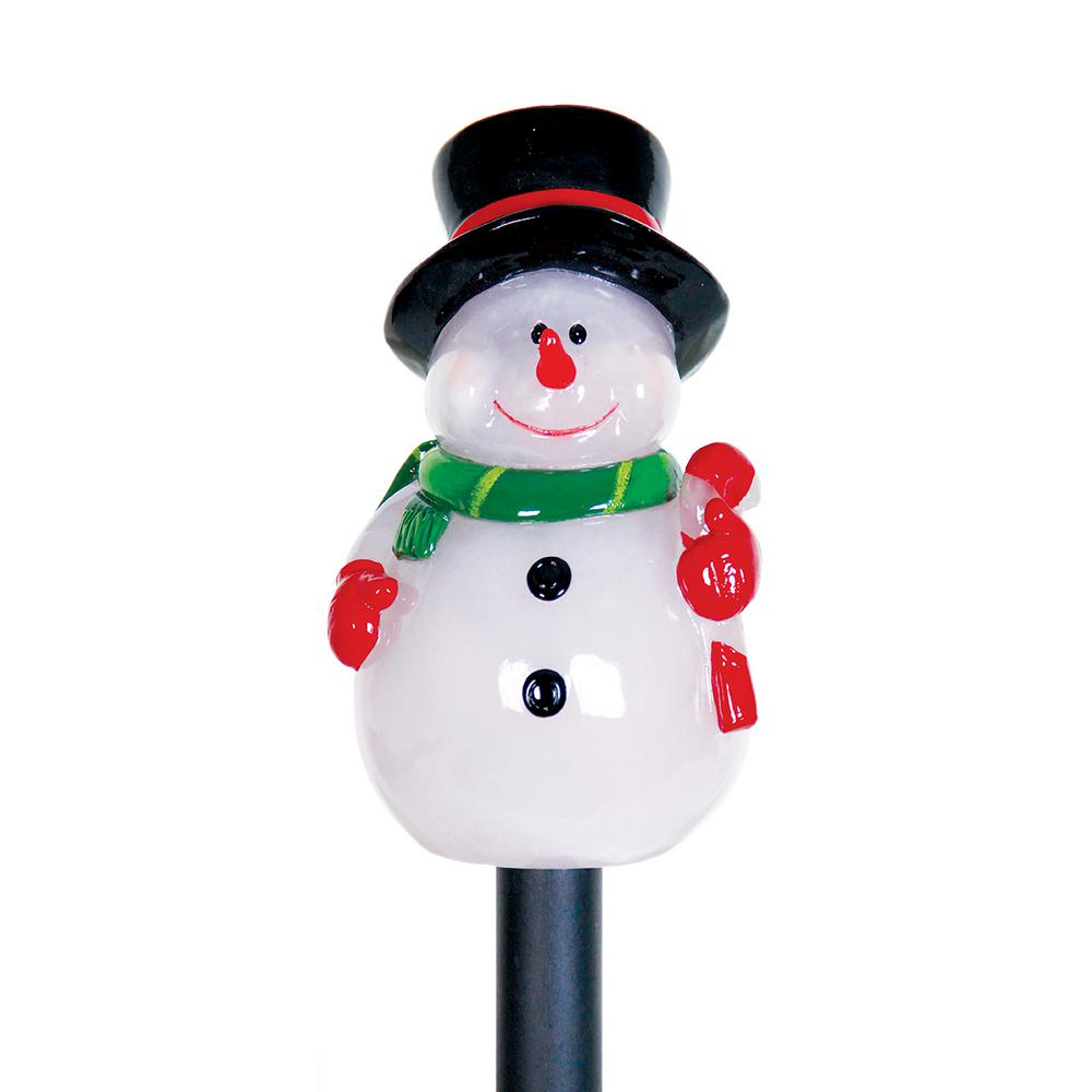 Exhart Solar 17.75 in. Snowman Plant Stake Christmas