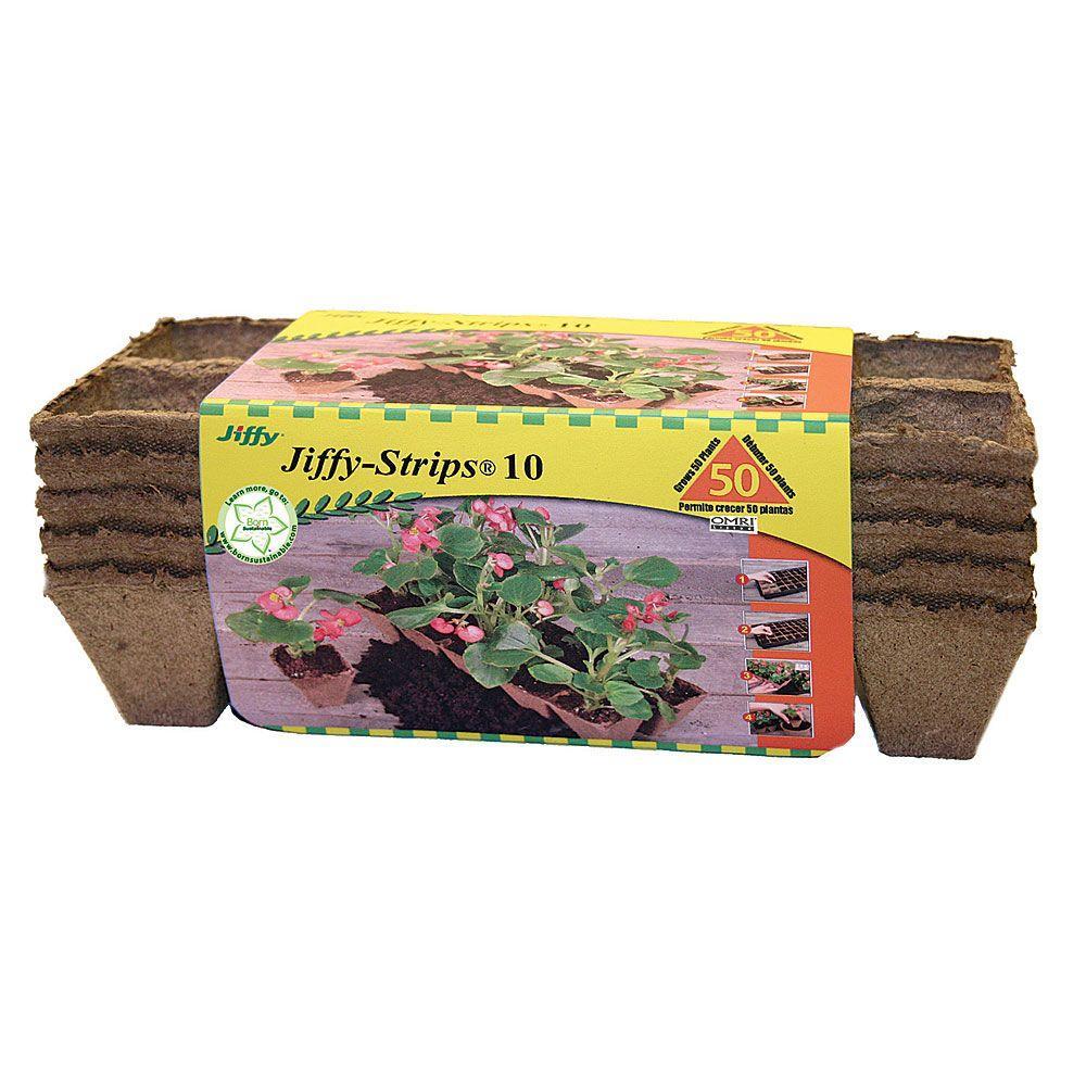 Jiffy Strips 10 Peat Pots