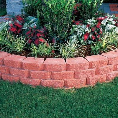 4 in. x 11.75 in. x 6.75 in. River Red Concrete Retaining Wall Block (144 Pcs. / 46.5 Face ft. / Pallet)