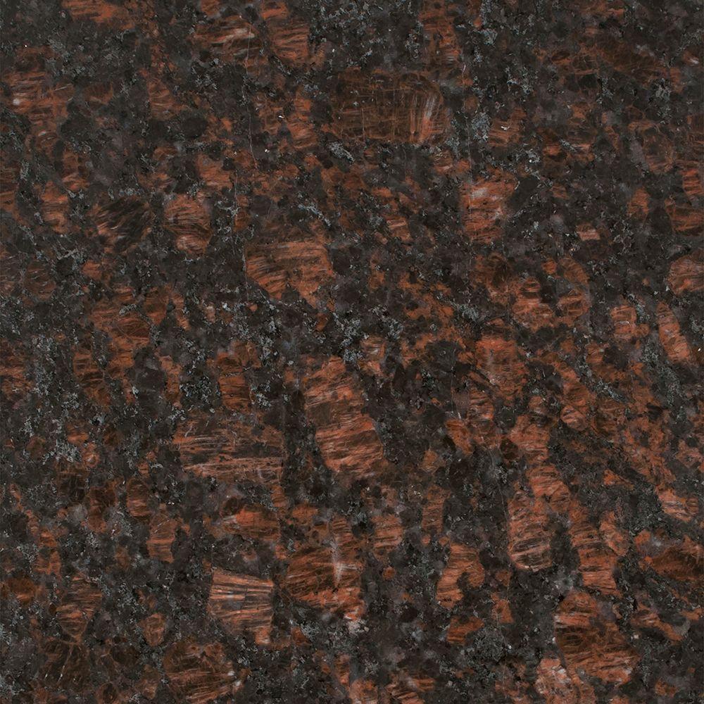 3 in. x 3 in. Granite Countertop Sample in Tan Brown