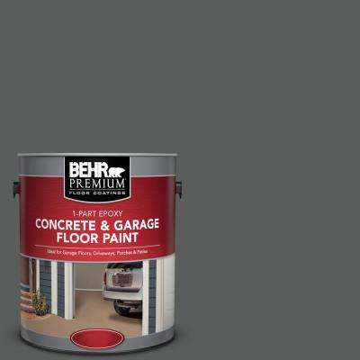 1 gal. #N520-6 Asphalt Gray 1-Part Epoxy Concrete and Garage Floor Paint