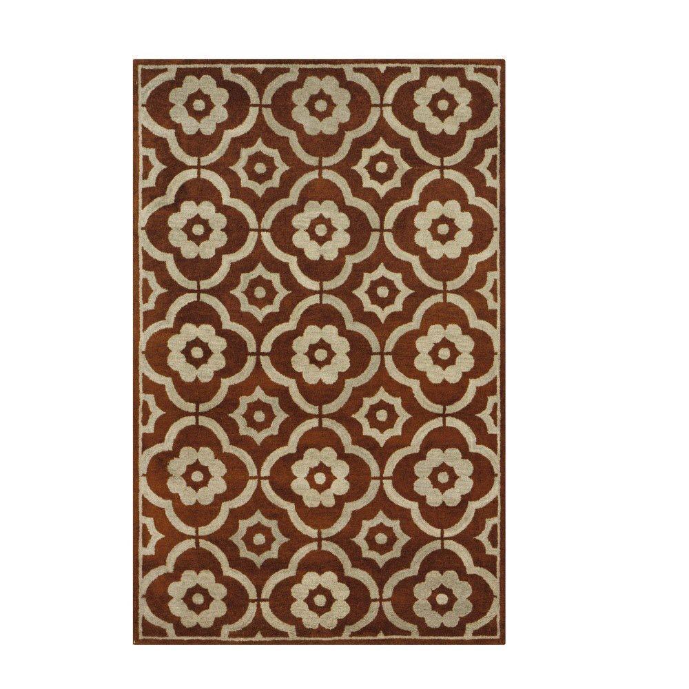 Home Decorators Collection Portofino Brick 3 ft. 6 in. x 5 ft. 6 in. Area Rug