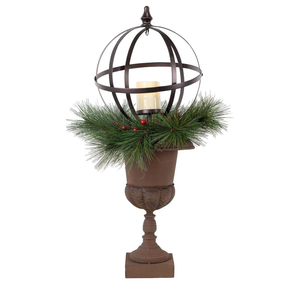 Home Accents Holiday 32 In. Christmas Porch Decor With LED