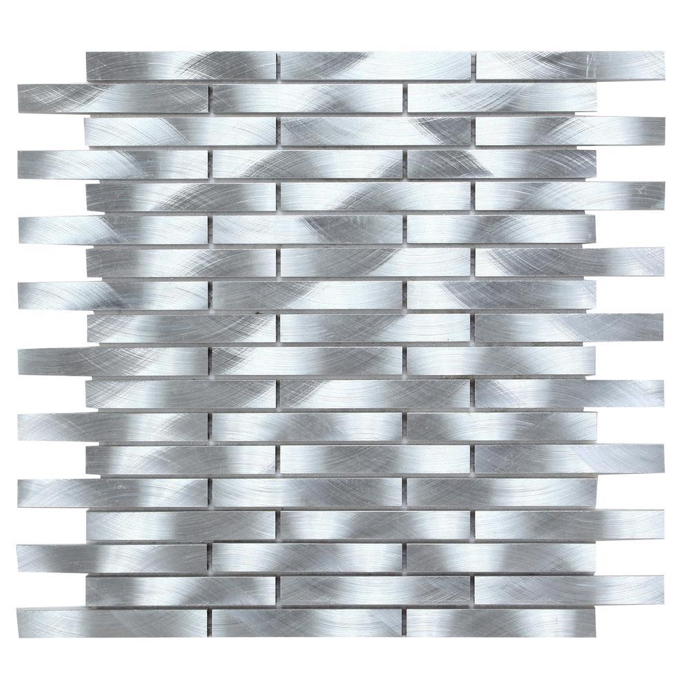 - CHENX 11.81 In. X 13.73 In. X 6 Mm Aluminum Metal Backsplash In