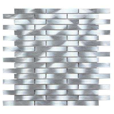 CHENX 11.81 in. x 13.73 in. x 6 mm Aluminum Metal Backsplash in Silver (12.42 sq. ft./Case)