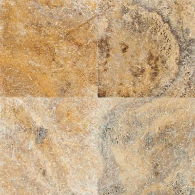 Tuscany Scabas 16 in. x 16 in. Gold Travertine Paver Tile (20 Pieces / 35.6 Sq. Ft. / Pallet)