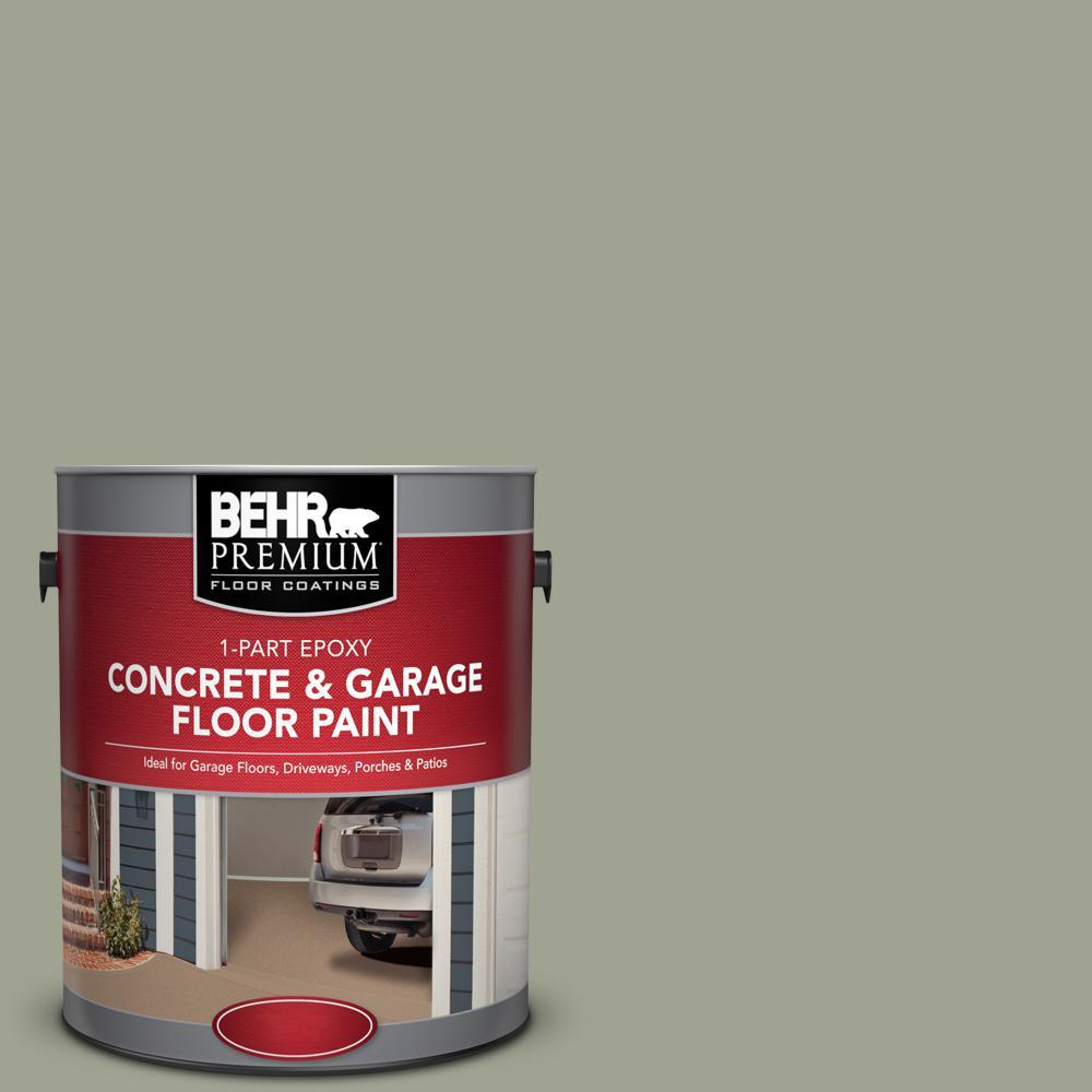 1 gal. #PFC-38 Elemental Green 1-Part Epoxy Satin Interior/Exterior Concrete and Garage Floor Paint