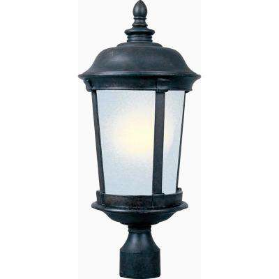 Dover 12 in. Wide 1-Light Outdoor Bronze Post Light