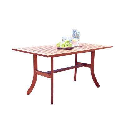 Malibu Rectangular Wood Outdoor Dining Table