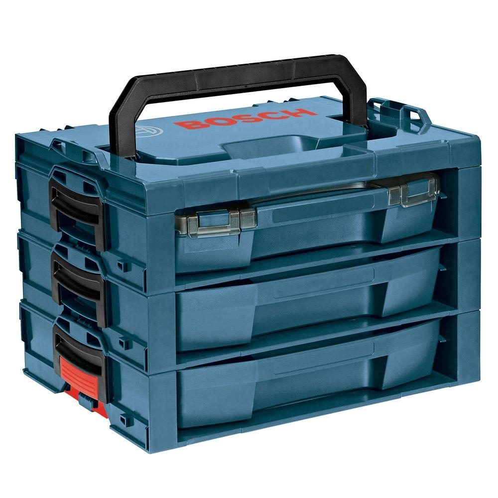 3-Compartment Complete L-Rack System Small Parts Organizer