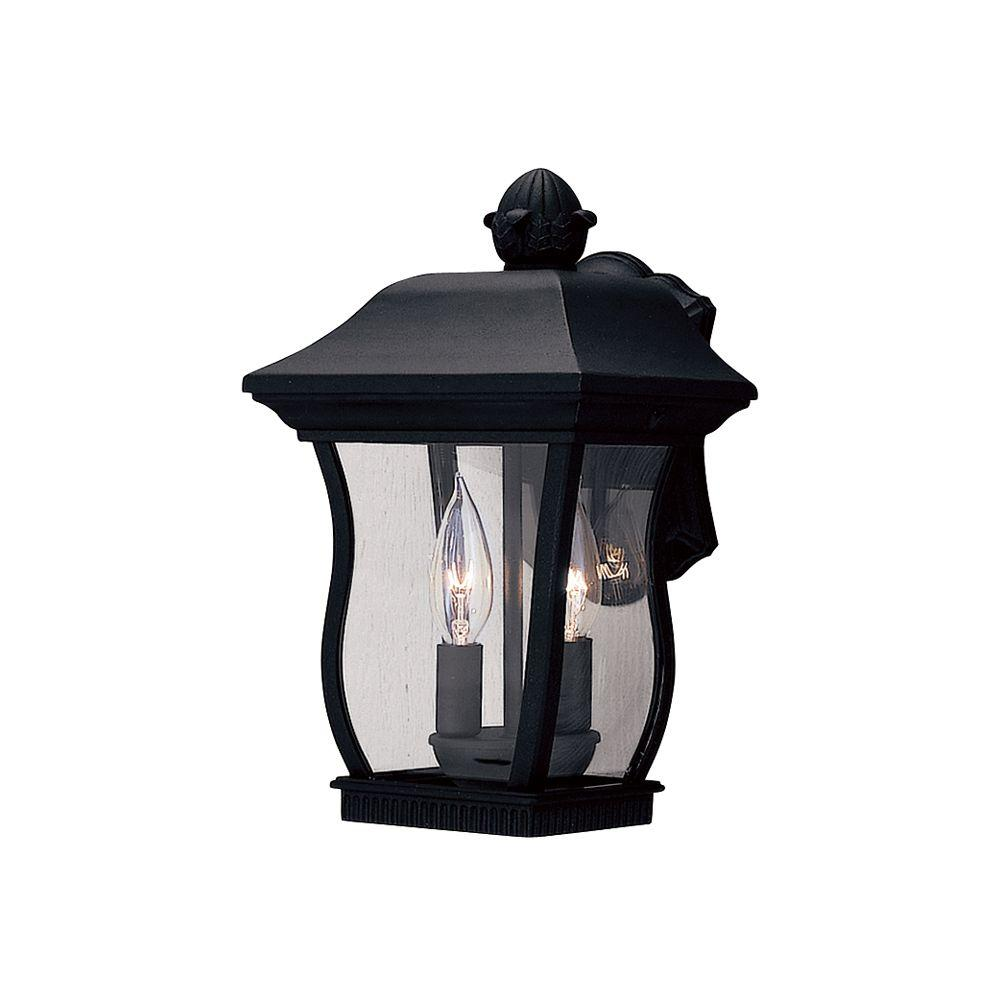 Designers Fountain Chelsea 2-Light Black Outdoor Wall-Mount Lantern Sconce
