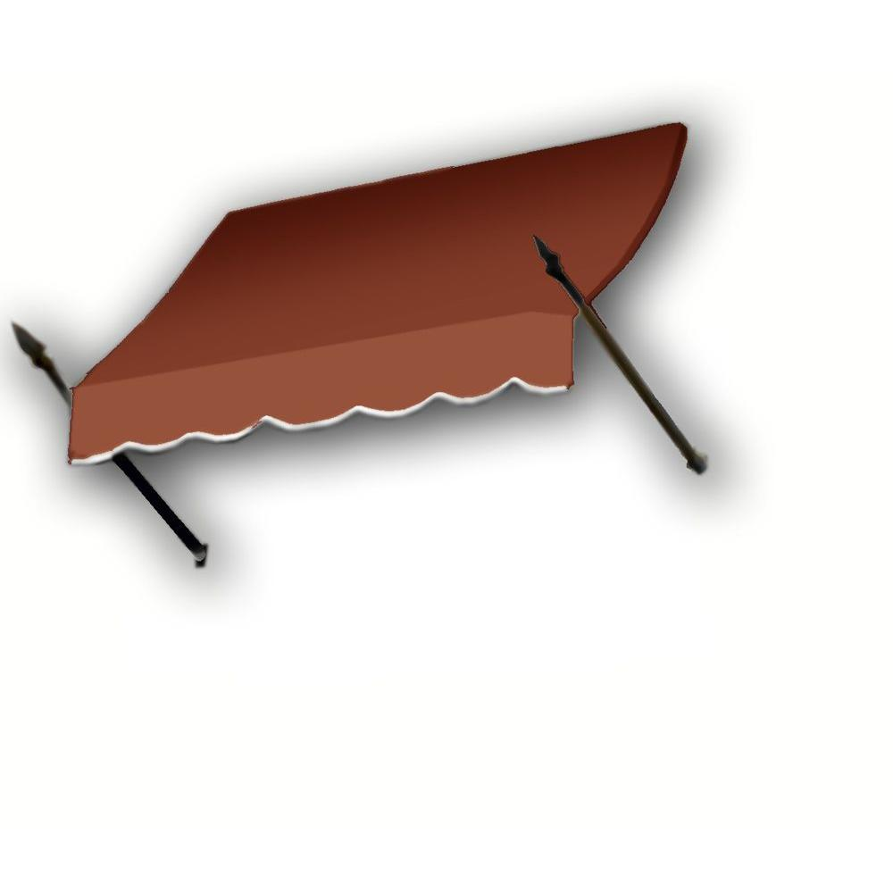 AWNTECH 14 ft. New Orleans Awning (44 in. H x 24 in. D) in Terra Cotta