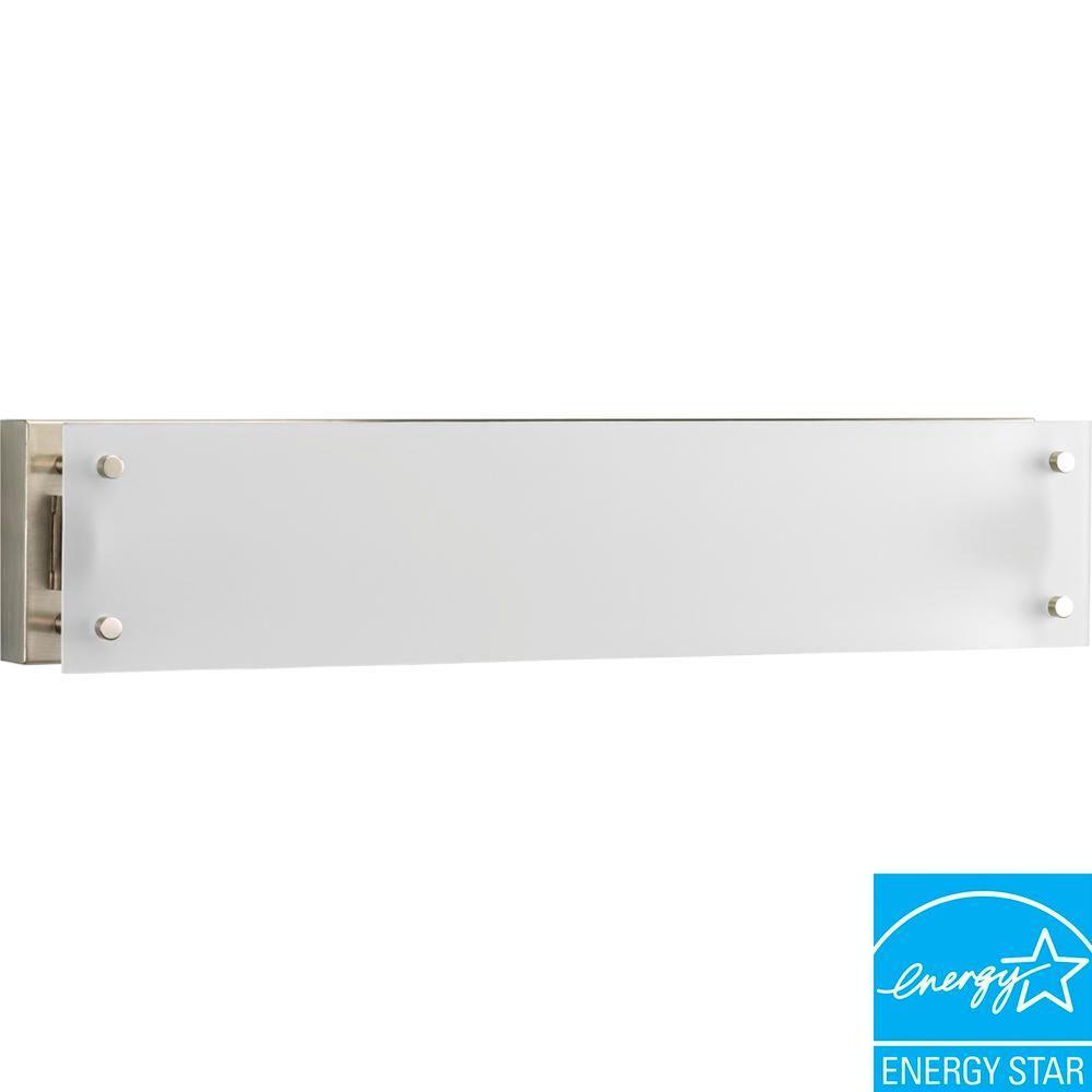 1-Light Brushed Nickel Fluorescent Vanity Fixture