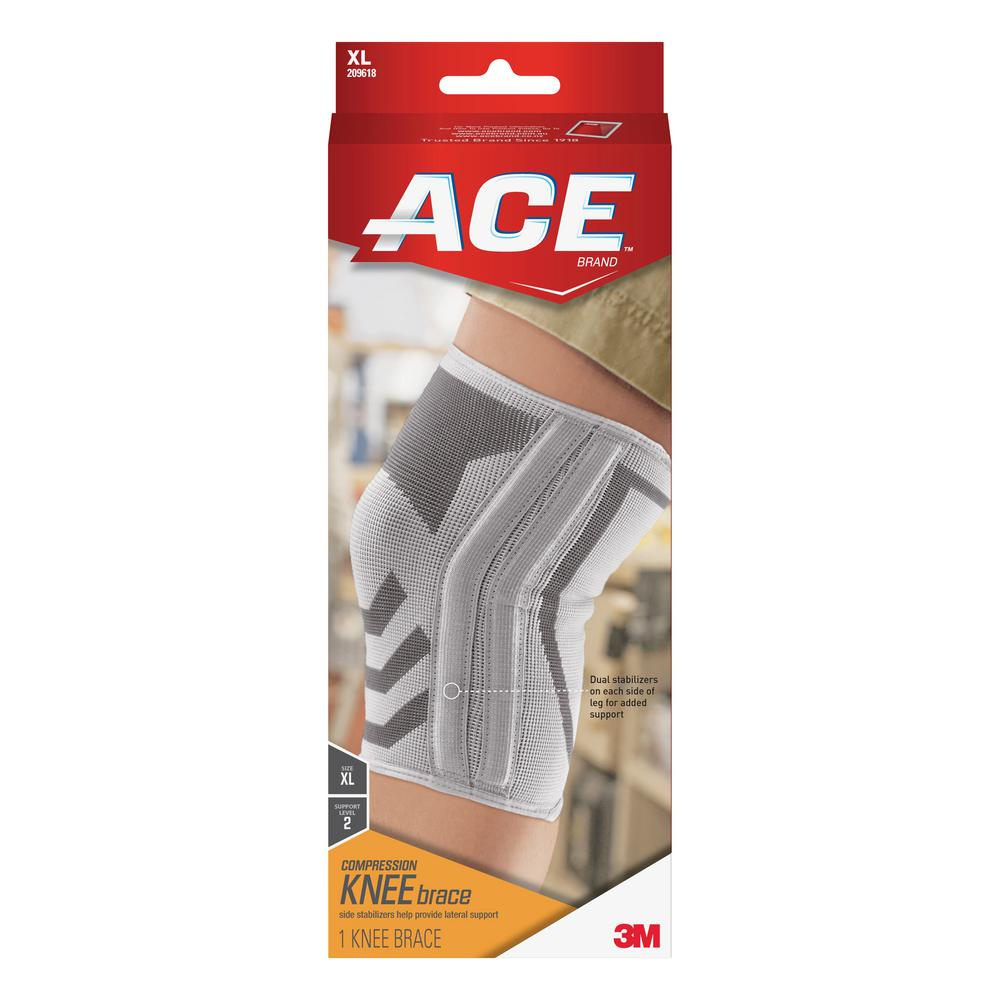 Ace Extra Large Compression Elbow Support Brace In White