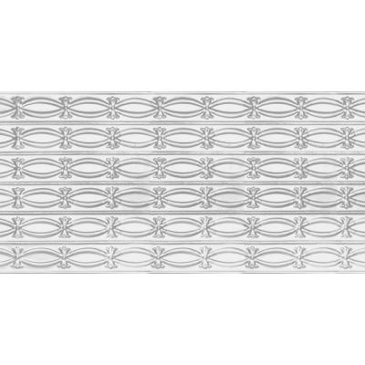 2 ft. x 4 ft. Glue Up or Nail Up Tin Ceiling Tile in Powder-Coated White (24 sq. ft./case)