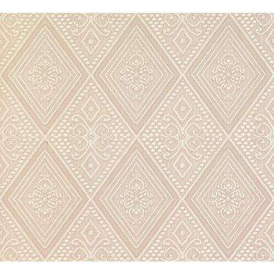 Nicolo Taupe Ornate Diamond Wallpaper