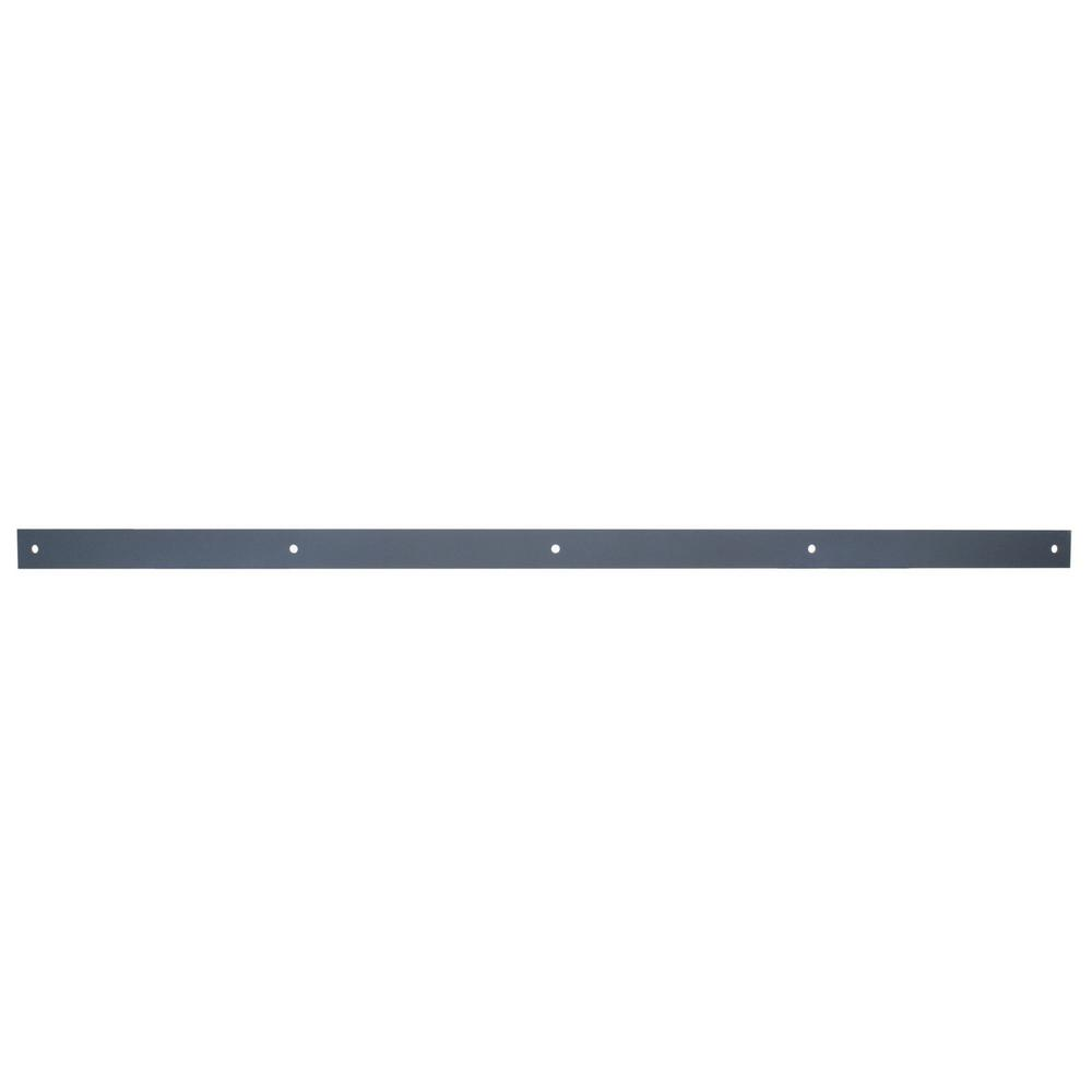 Black Steel Sliding 800 Lbs. Exterior Barn Door Rail Hardware
