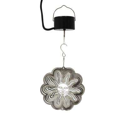 Silver Sun 6 in. Wind Spinner with Electric-Operated Motor