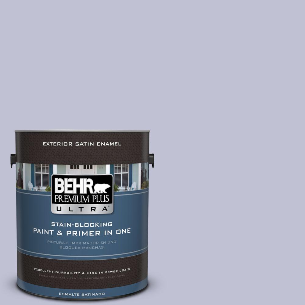 BEHR Premium Plus Ultra 1-gal. #S560-2 Lavender Honor Satin Enamel Exterior Paint