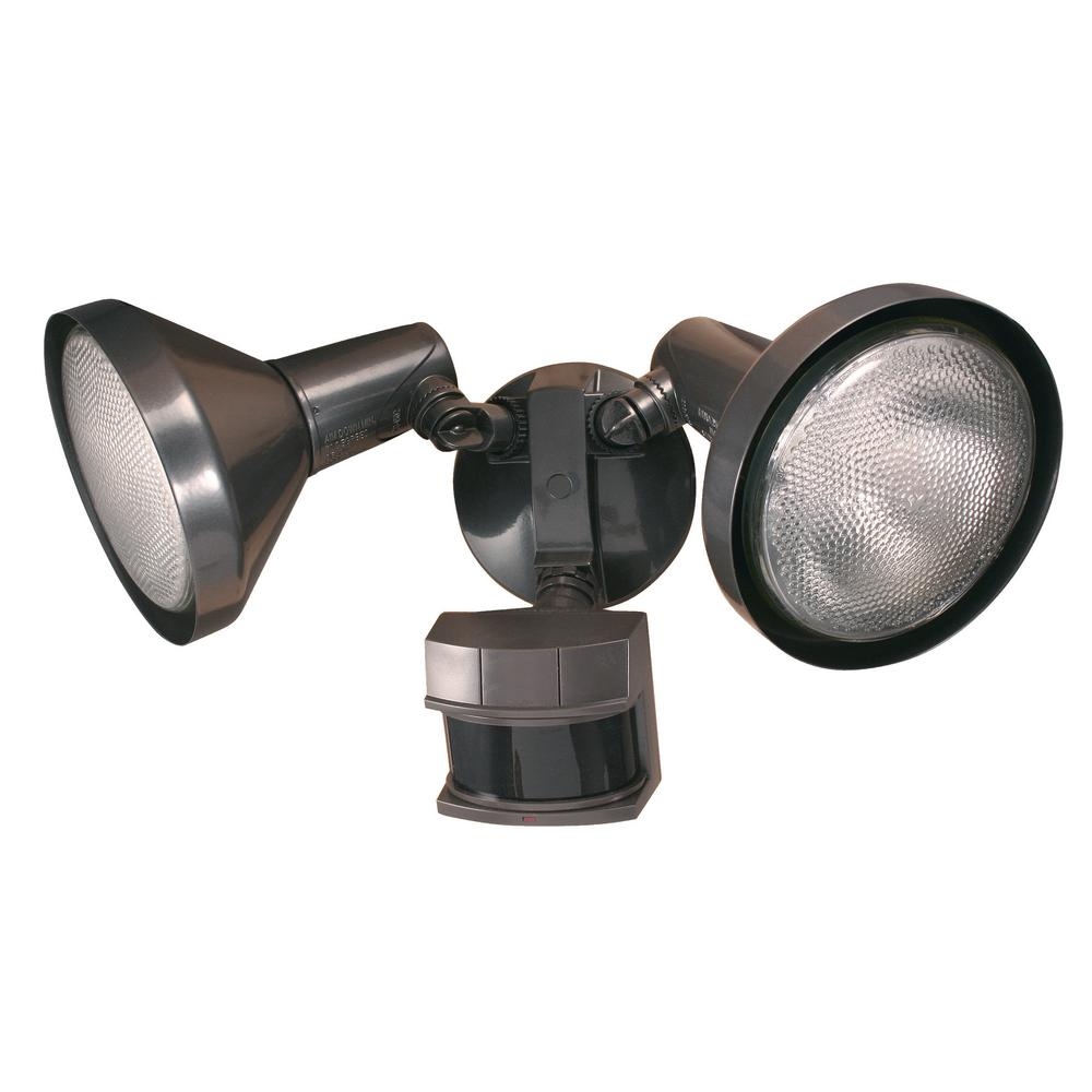 240-Degree Bronze Motion Activated Outdoor Flood Light