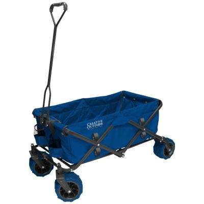 7 cu. ft. Folding Garden Wagon Carts in Blue
