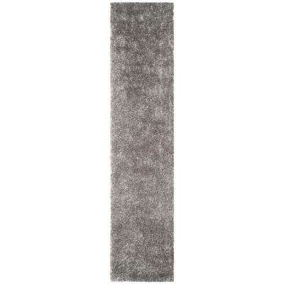 New Orleans Shag Gray 2 ft. x 10 ft. Runner Rug