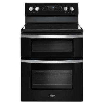6.7 cu. ft. Double Oven Electric Range with True Convection in Black Ice