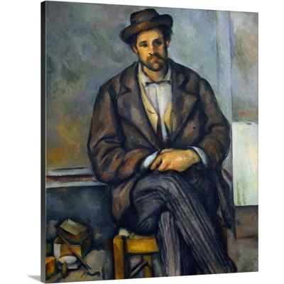 """""""Seated Peasant"""" by Paul Cezanne Canvas Wall Art"""