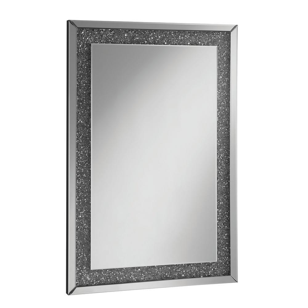 Scott Rectangular Silver Chrome Decorative Wall Mirror