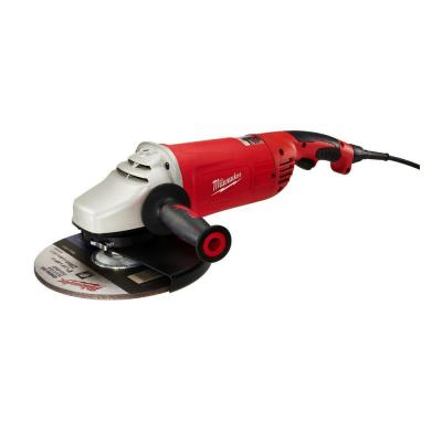 15 Amp 7/9 in. Roto-Lok Large Angle Grinder with Trigger Lock-On Switch