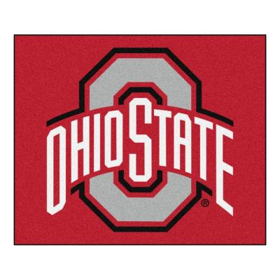 NCAA Ohio State University Red 5 ft. x 6 ft. Indoor/Outdoor Tailgater Area Rug