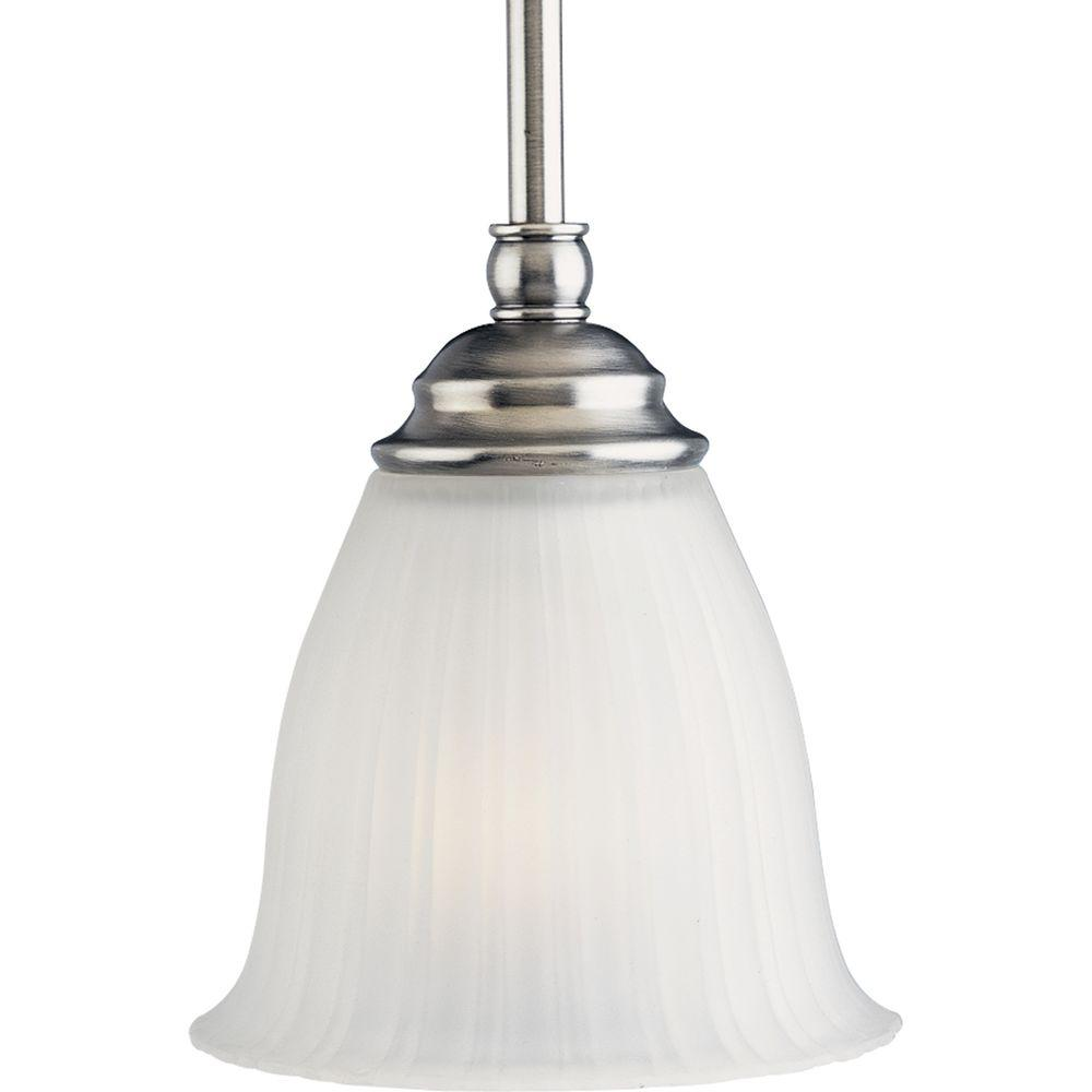 Progress Lighting Renovations Collection 1-Light Antique Nickel Mini Pendant