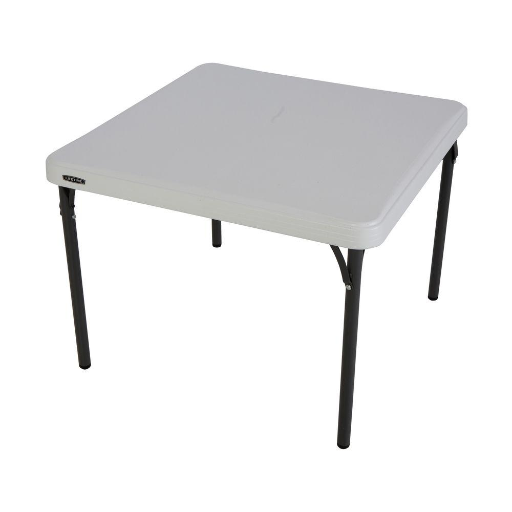 Charming Lifetime White Childrenu0027s Folding Table